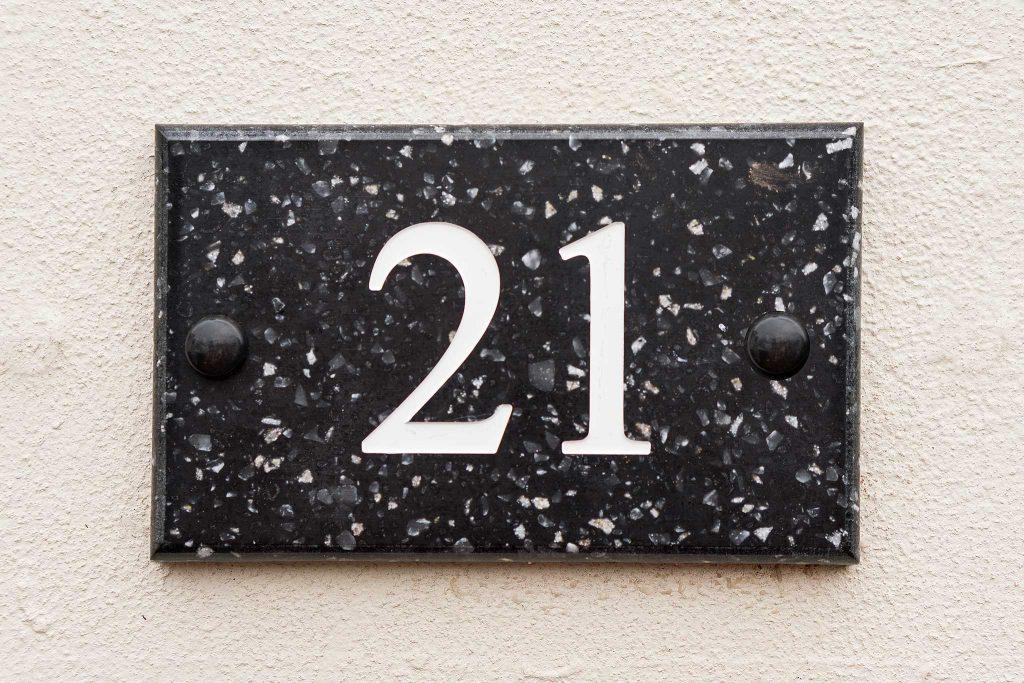 House Number Plaques Slate: Brass, Slate & Corian, Wide Choice